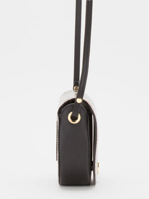 Shannon Small Leather Crossbody Bag - Python/Black