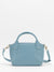 Billie Leather Satchel - Sky Blue
