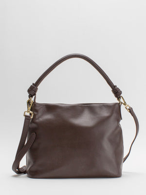 Susanna Leather Shoulder Bag - Chocolate