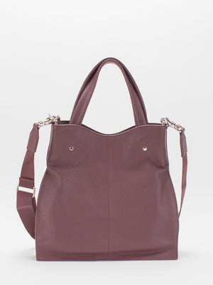 Coco Leather Satchel - Very Berry