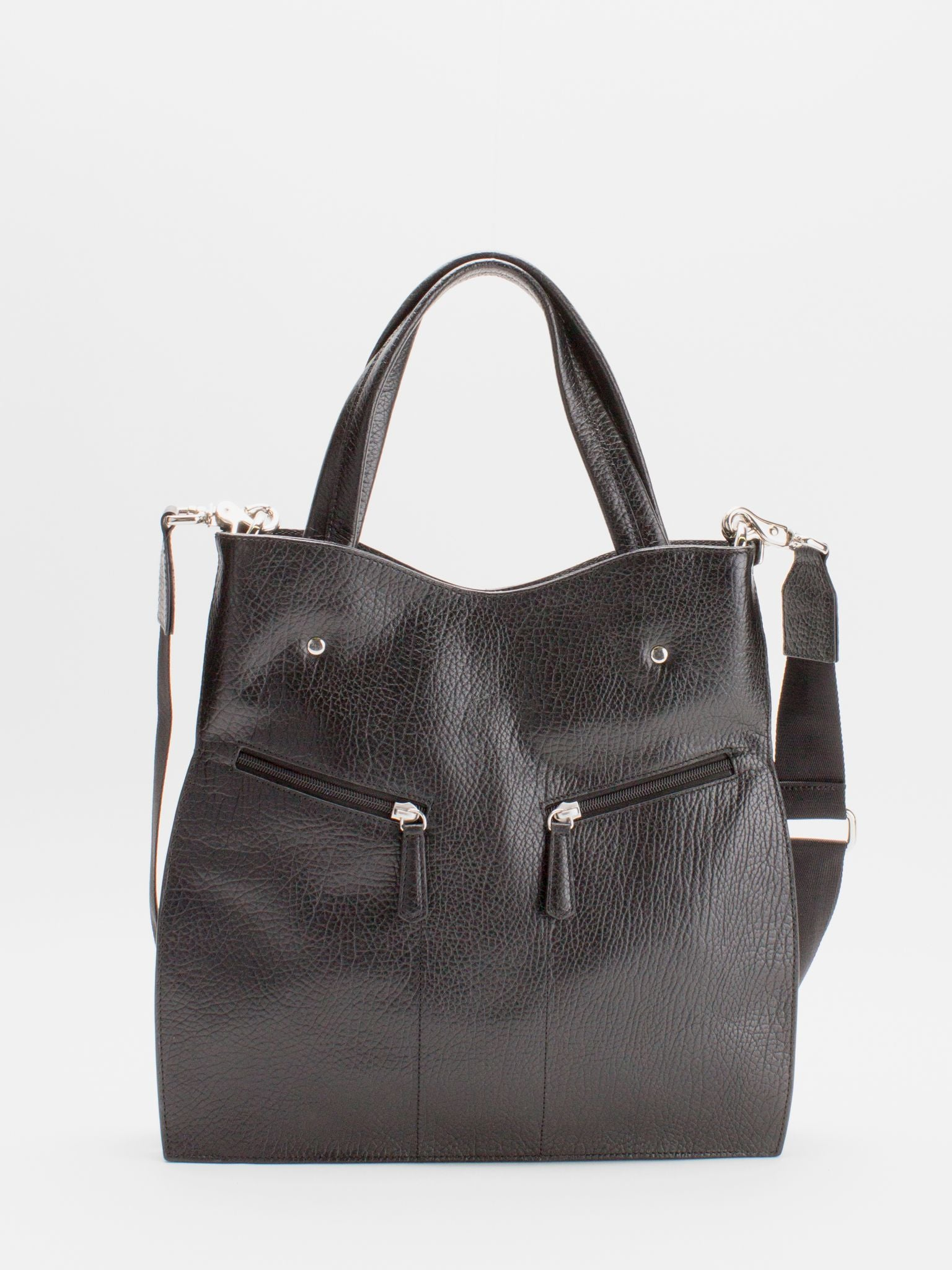 Coco Leather Satchel - Black