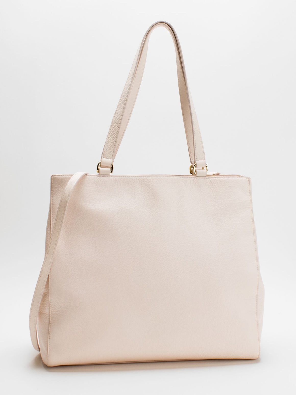 Julia Large Leather Tote - Vanilla