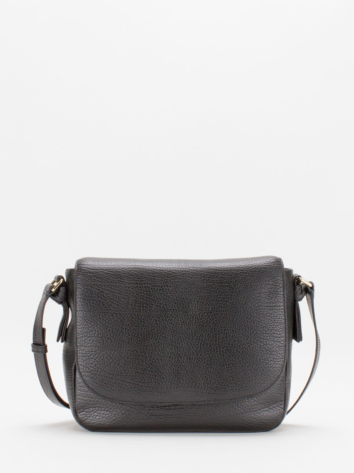 Belle Leather Saddle Bag - Black