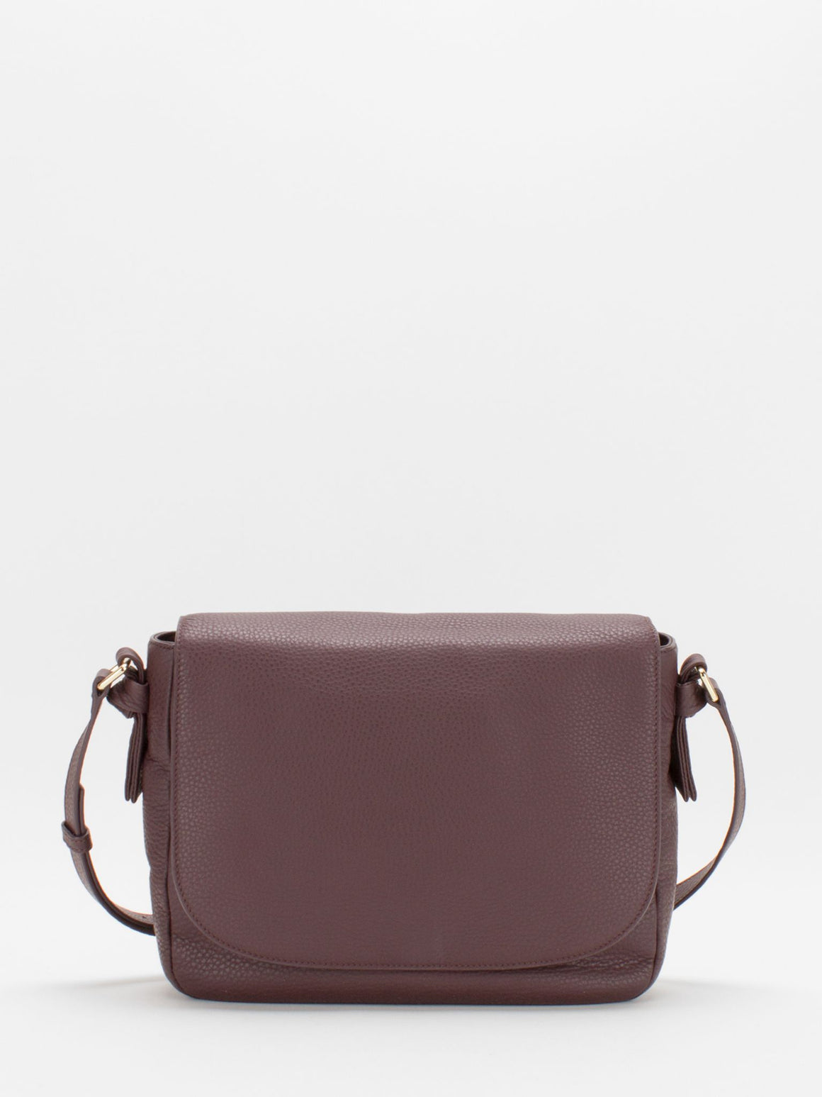 Belle Leather Saddle Bag - Very Berry