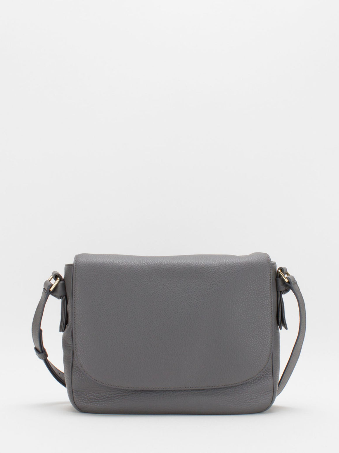 Belle Leather Saddle Bag - Grey