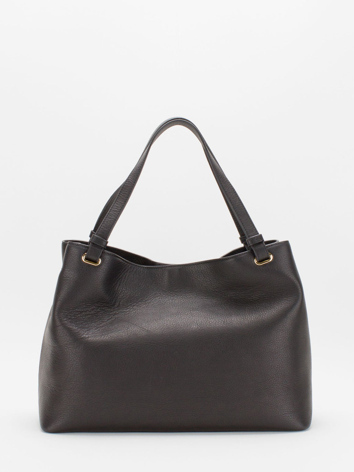 Kaitlyn Leather Shopper Tote - Black
