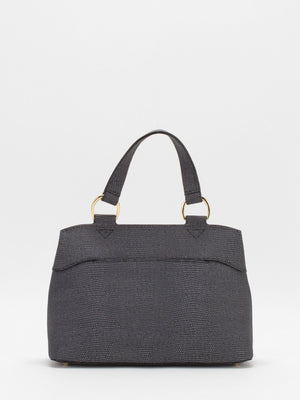 Matilda Leather Satchel - Dark Grey