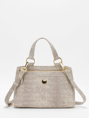 Matilda Leather Satchel - Grey