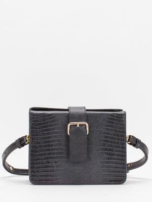 Sofia Croc Box Shoulder Bag