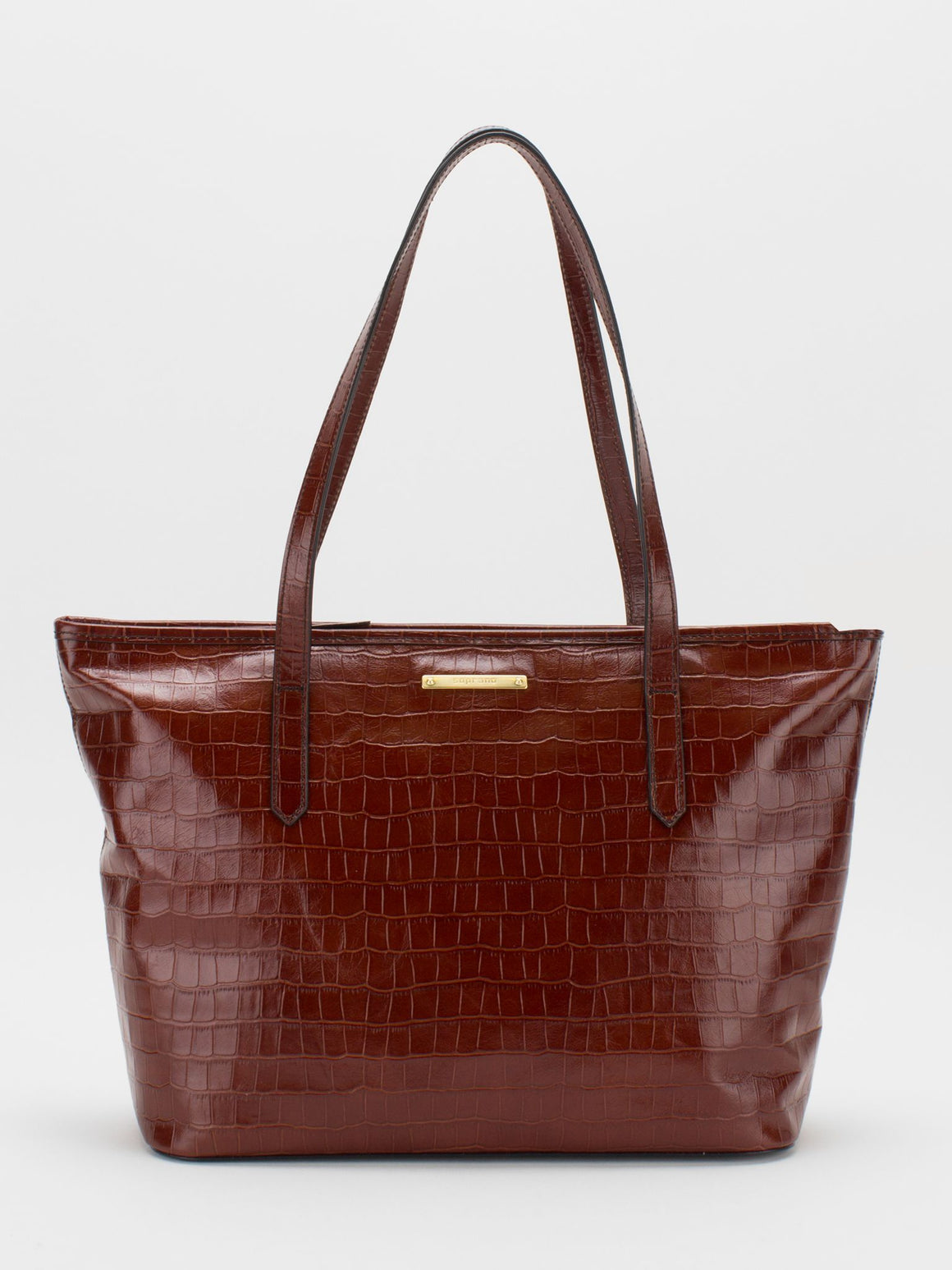 Molly Leather Tote - Maroon