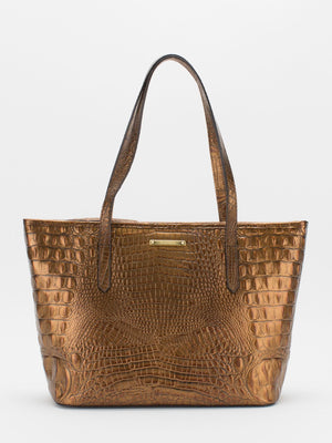 Molly Leather Tote - Copper