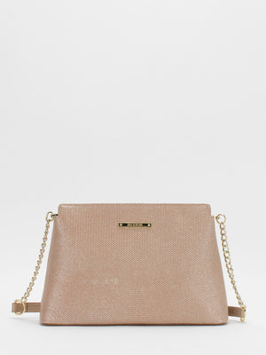 Darcie Leather Chain Accent bag - Gold
