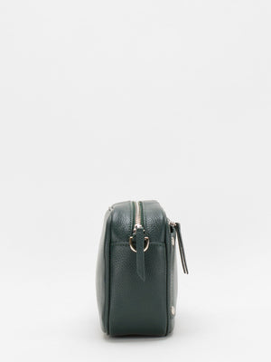 Amber Leather Camera Bag - Teal