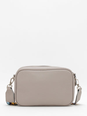 Amber Colourblock Leather Camera Bag - Grey/Blue