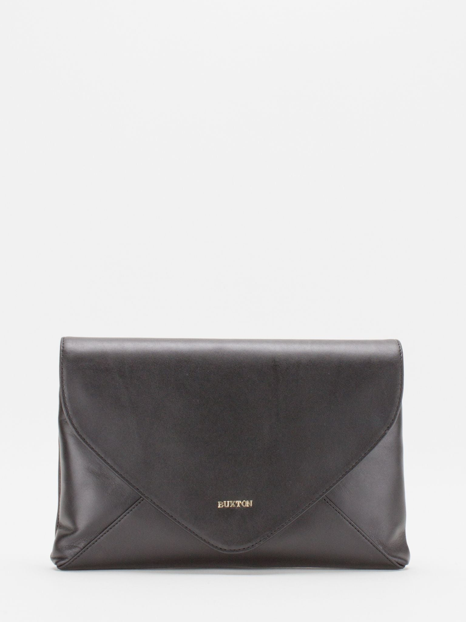 Ruby Leather Convertible Clutch - Black