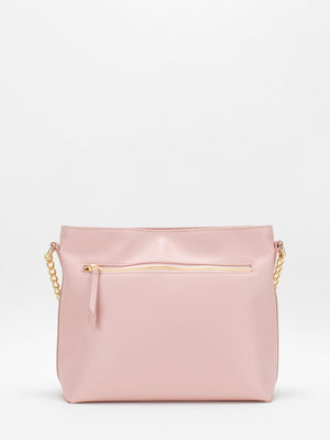 Layla Leather Shoulder Bag - Pink