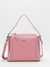 Hallie Studs Accent Leather Bag - Pink