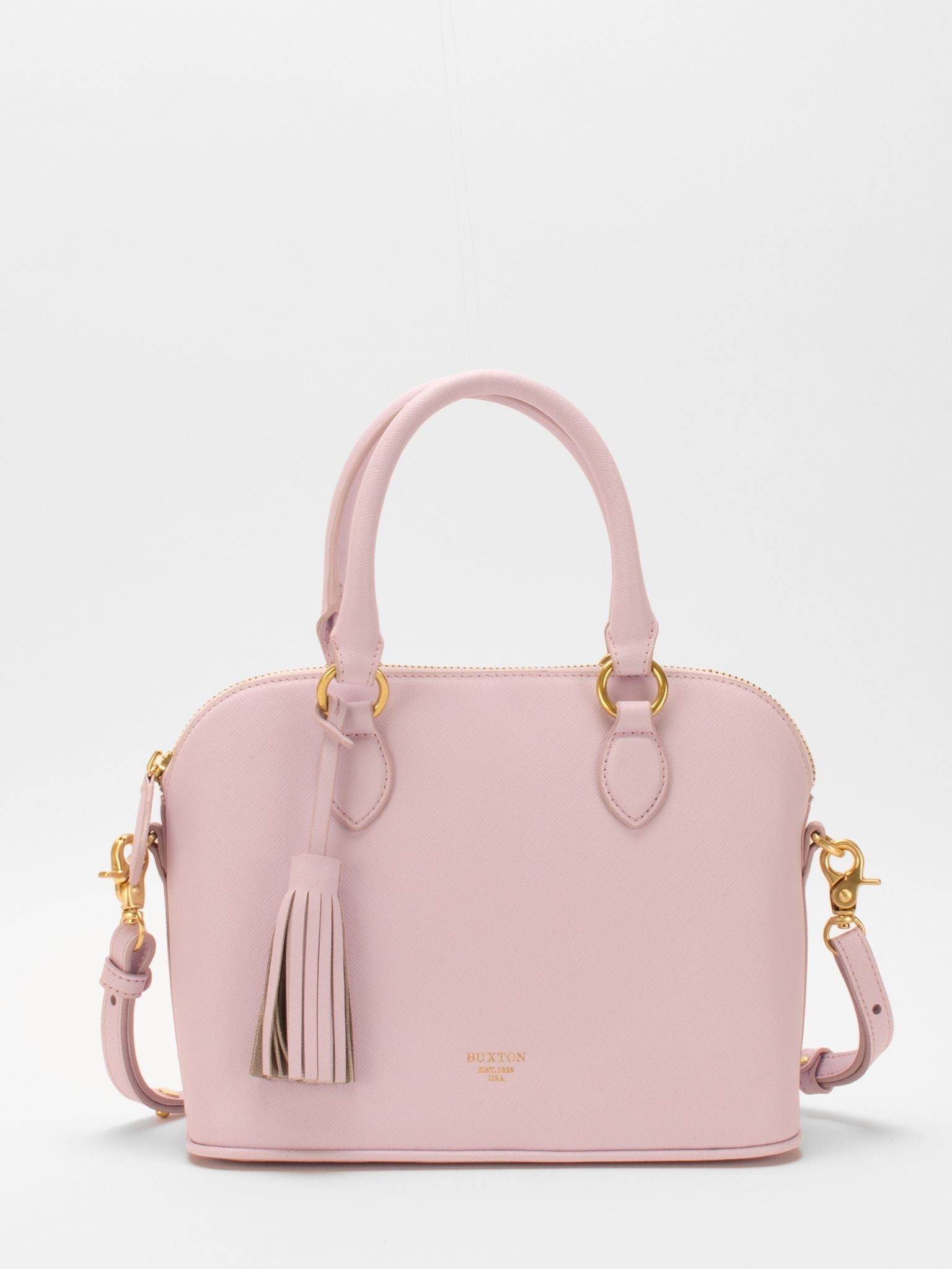 Serina Leather Dome Satchel – Lilac