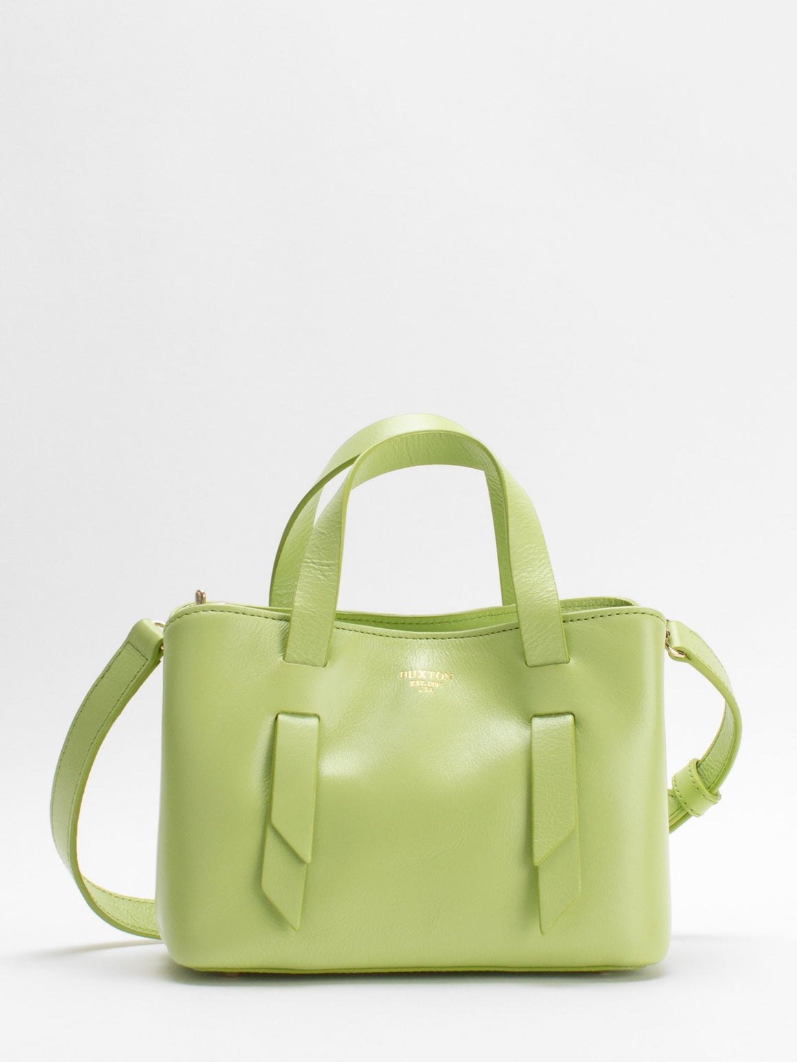 Charlee Small Leather Satchel - Apple Green