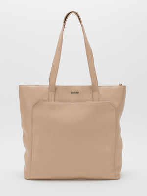 Macey Pebble Leather Tote -  Blush