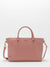 Jana Leather Satchel - Dusty Rose