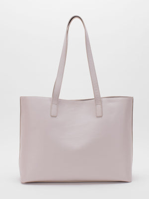 Emma Leather Tote - Chalk
