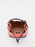 Courtney Leather Mini Bucket Bag with Matching Coin Purse - Orange/Navy