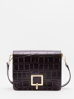 Nelly Croc-embossed Bag