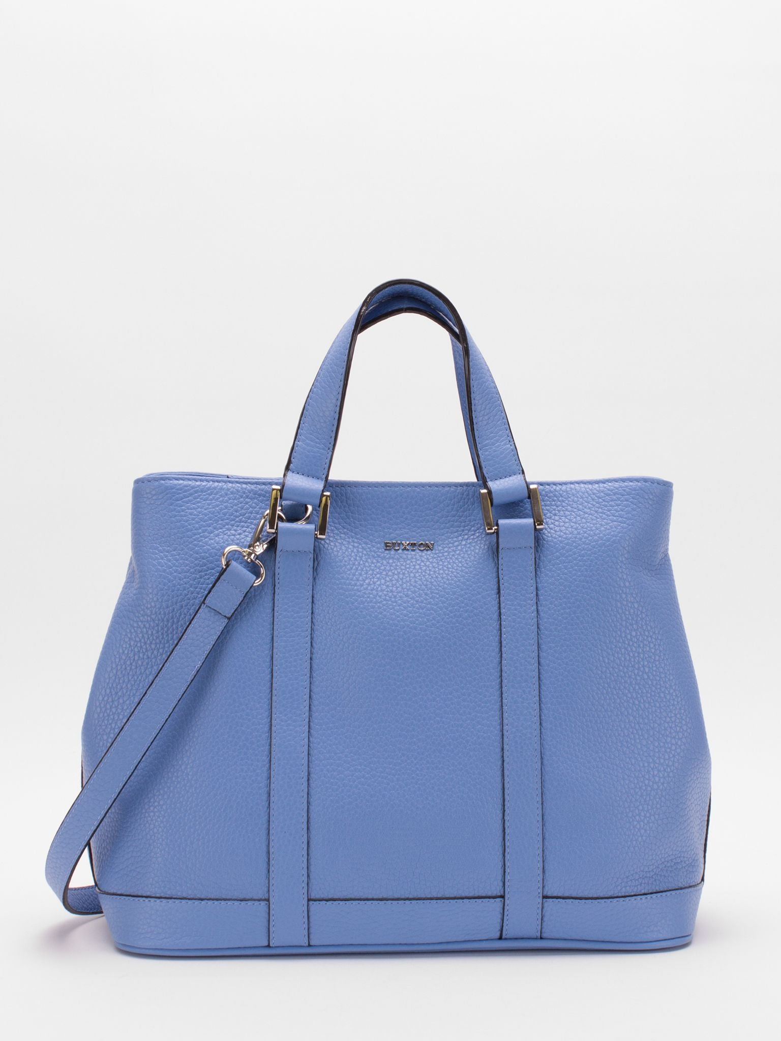 Adelaide Leather Satchel - Sky Blue
