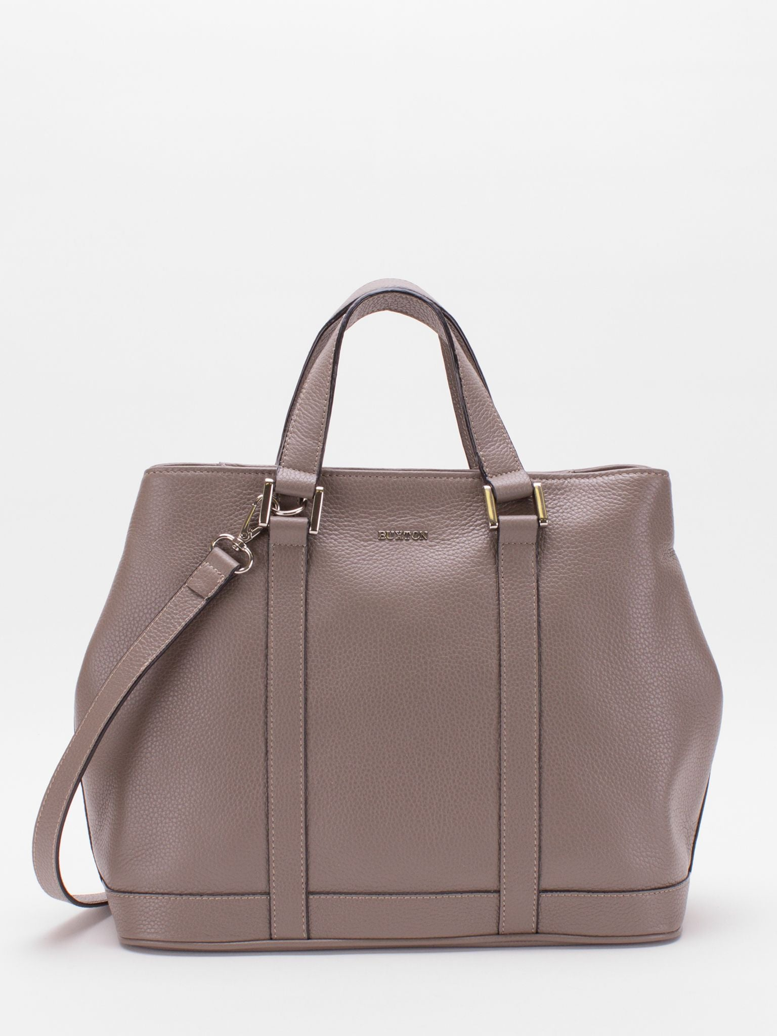 Adelaide Leather Satchel - Taupe Grey