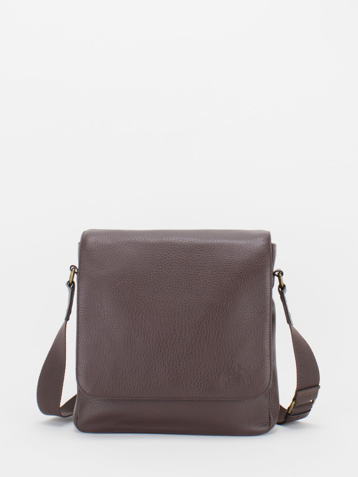 Max Pebble Leather Flapover Shoulder Bag - Brown