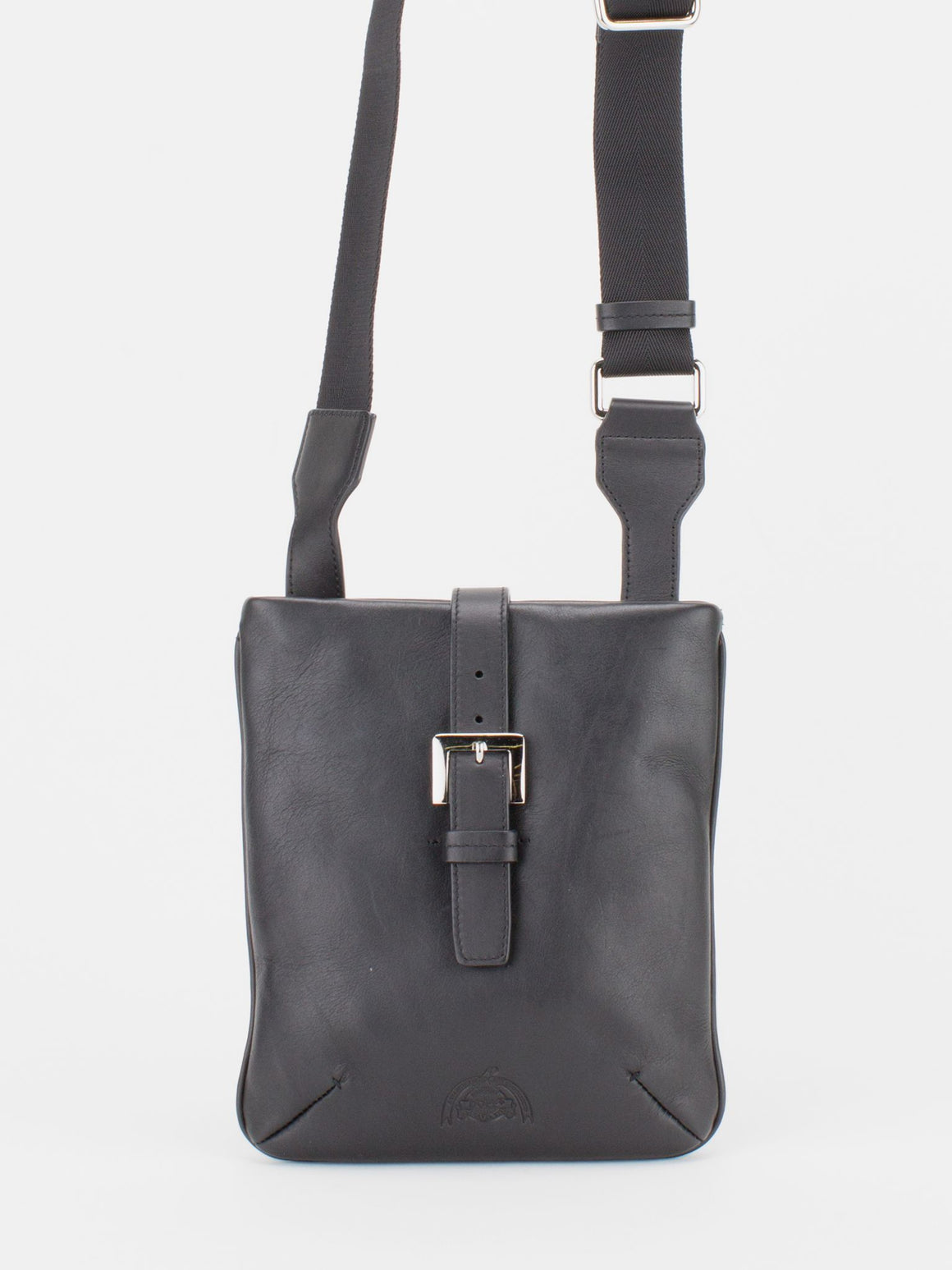 Derby Pebble Leather Crossbody - Black