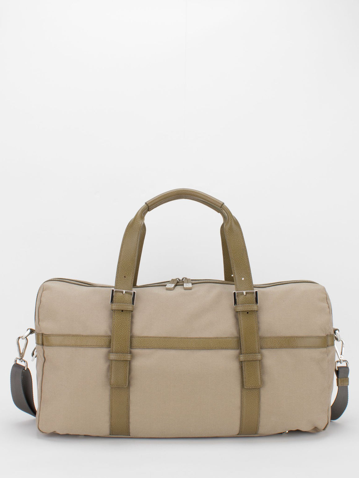 Leo Leather Trim Canvas Duffle Bag - Camel