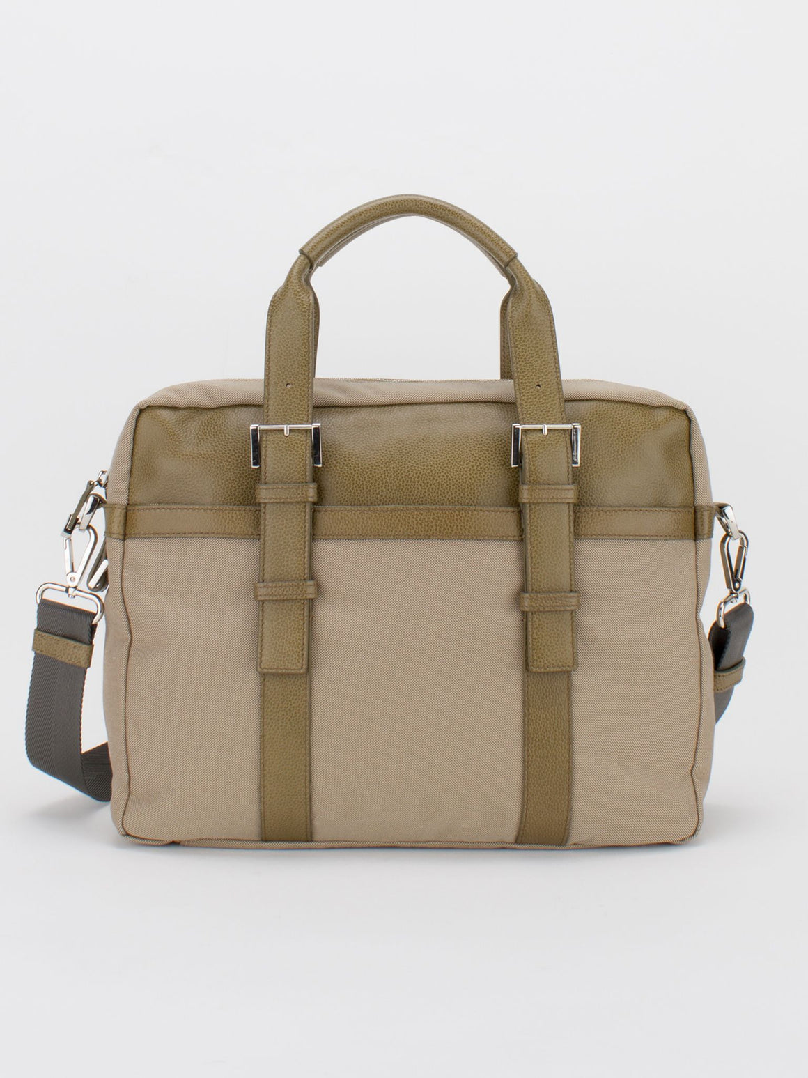 FRANKIE Leather Trim Canvas Briefcase