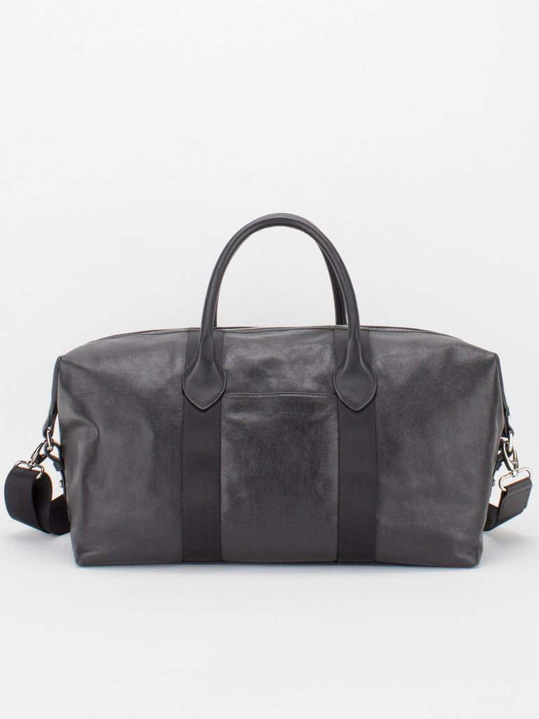 BRADFORD Pebble Leather Duffle - Black