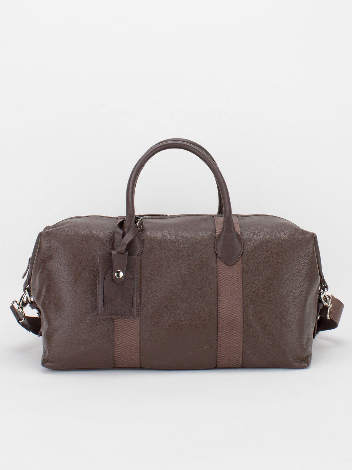 BRADFORD Pebble Leather Duffle - Brown