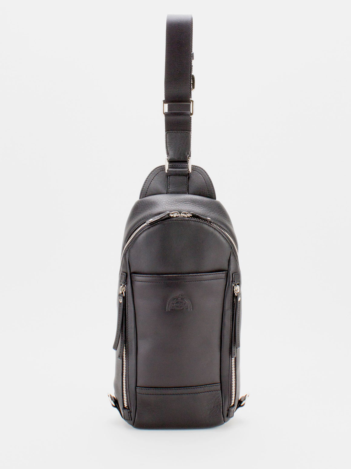 Colin Leather Sling Pack - Black