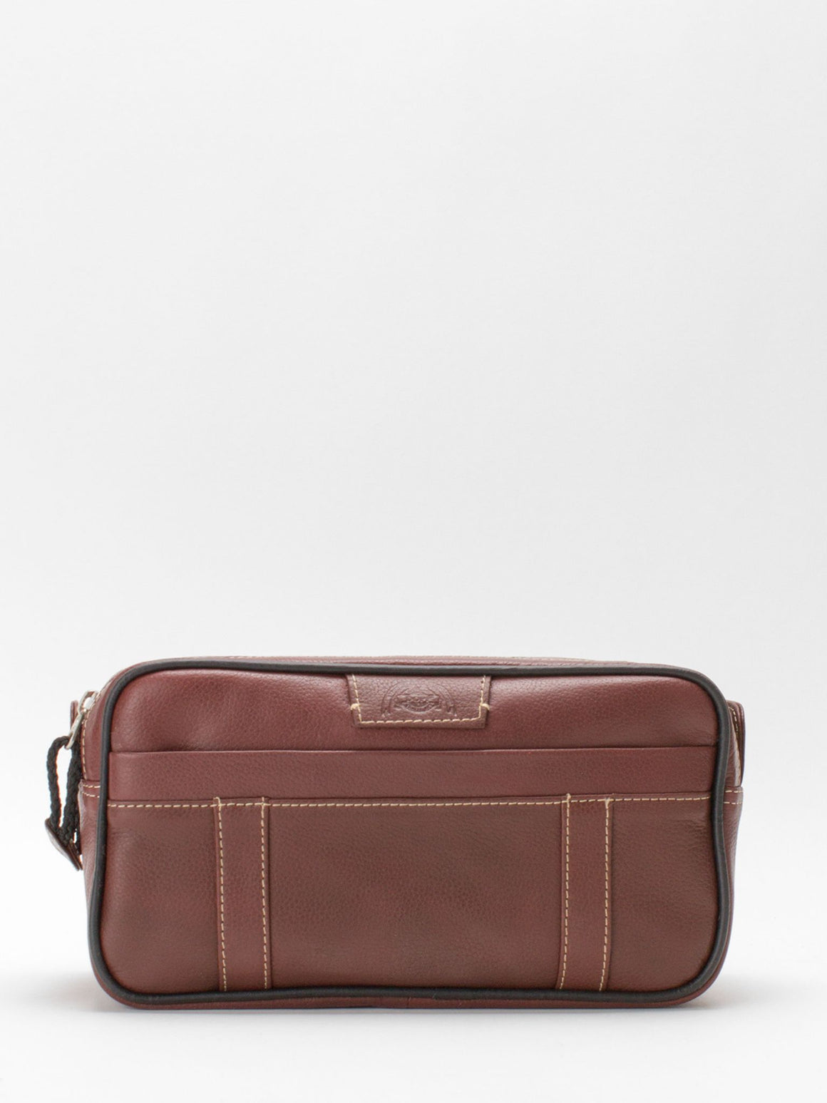 Owen Leather Toiletry Bag - Brown