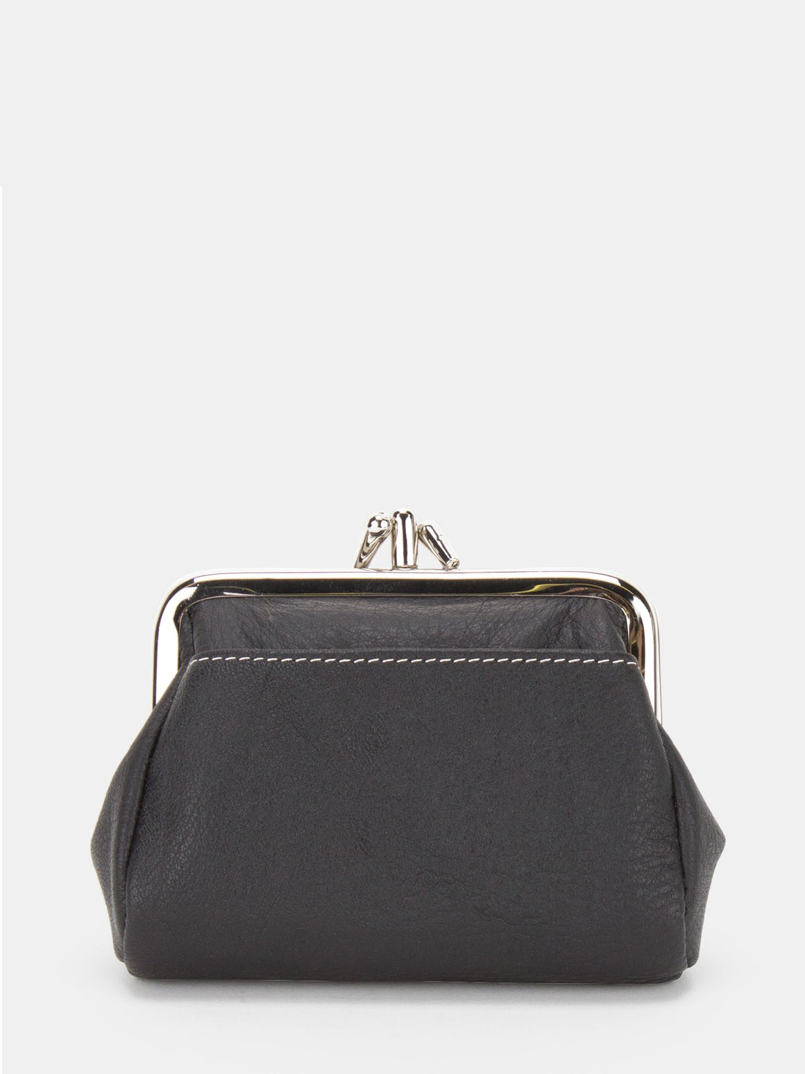 Bluebell Leather Double Frame Clutch - Black