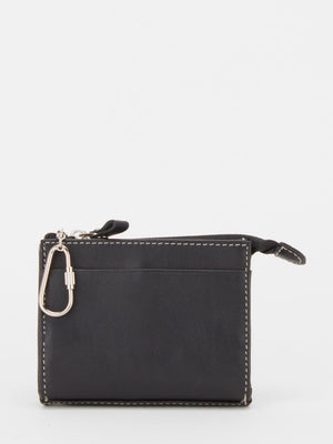 Daffodil Leather Card Wallet - Black