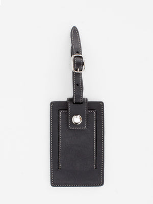Marigold Leather Luggage Tag - Black