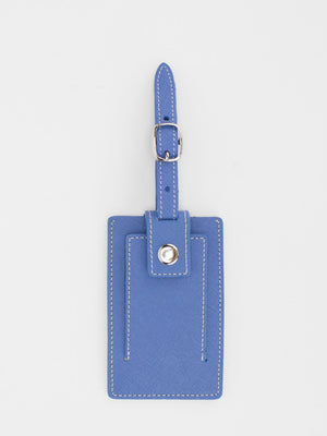 Marigold Leather Luggage Tag - Blue