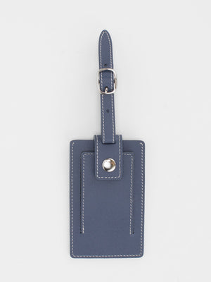 Marigold Leather Luggage Tag - Navy