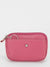 Camellia Leather Zip Top Purse - Pink