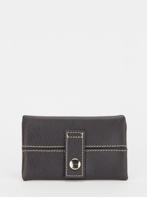 Donna Leather Pocket Tissue Holder - Black
