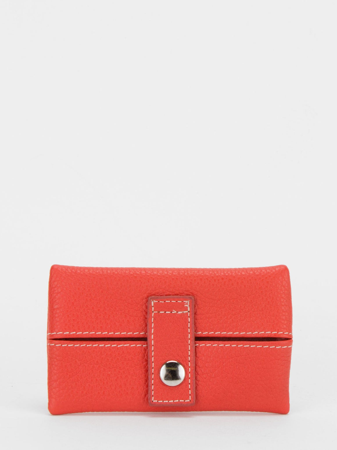 Donna Leather Pocket Tissue Holder - Orange