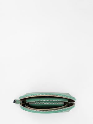 Sofie 3-in-1 Saffiano Leather Cosmetic Pouch Set - Green