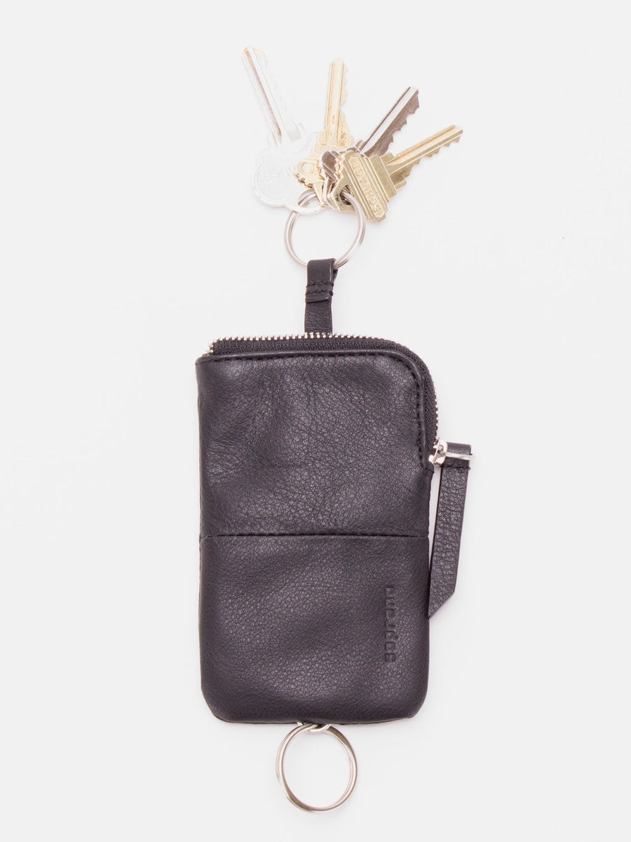 Ashton Leather Key Pouch - Black