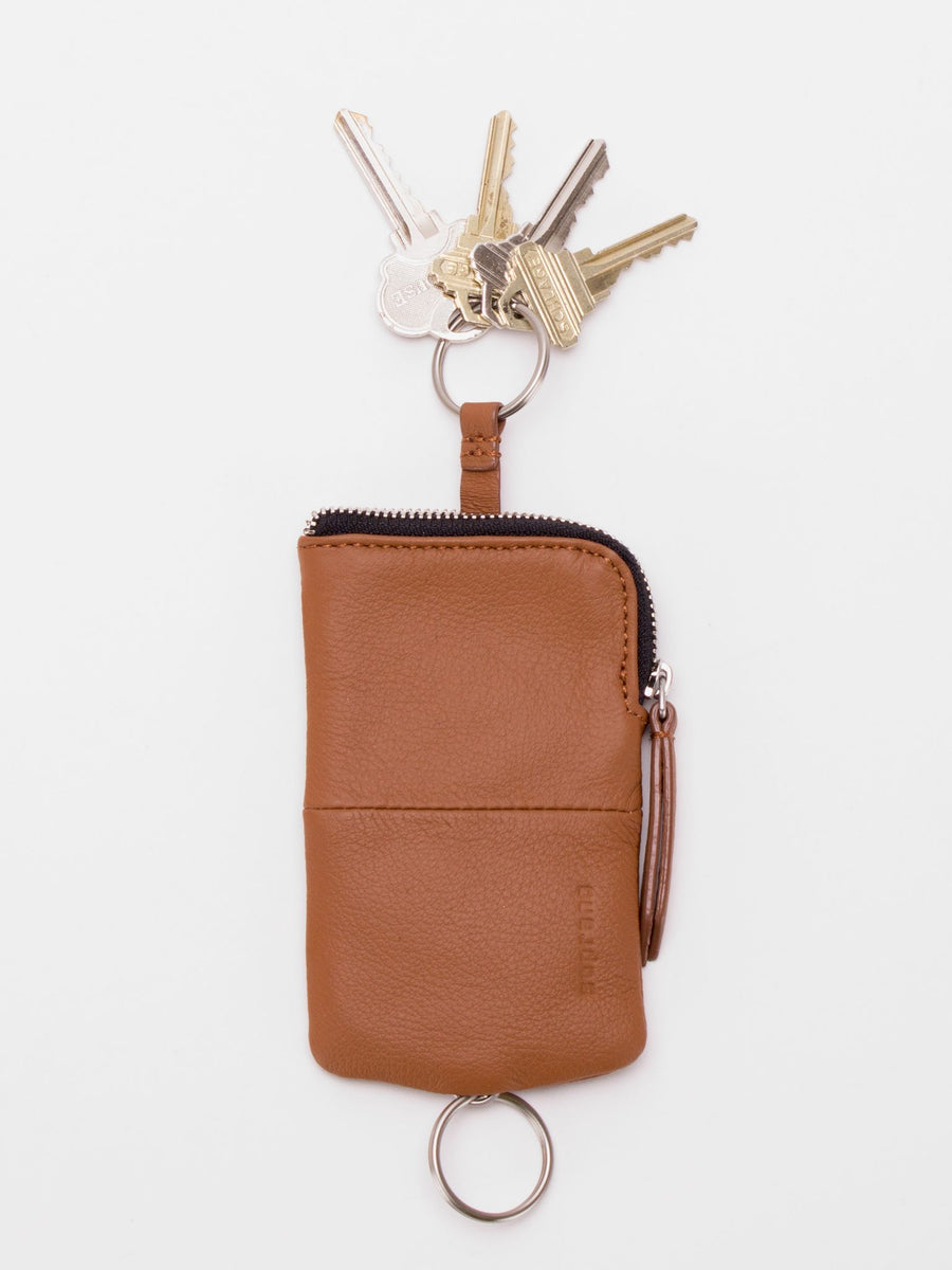 Ashton Leather Key Pouch - Camel