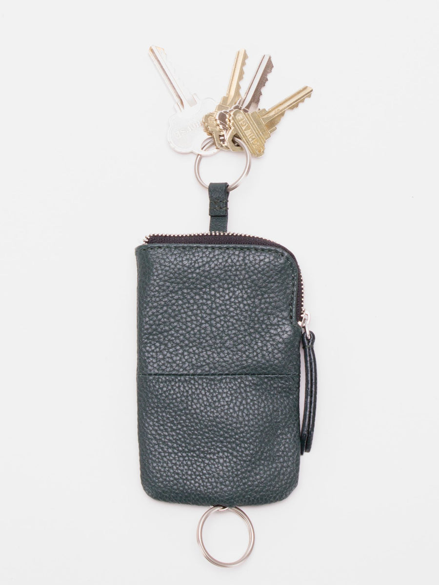 Ashton Leather Key Pouch - Green